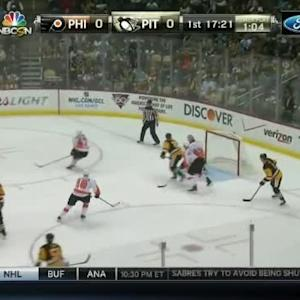 Ray Emery Save on Brandon Sutter (02:43/1st)