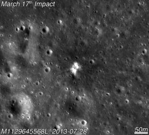 Moon's Newest Crater Revealed in Crash-Site Photo