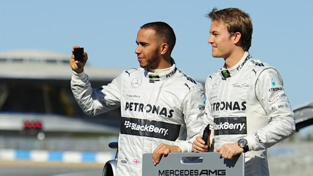 Mercedes duo Lewis Hamilton and Nico Rosberg (AFP)