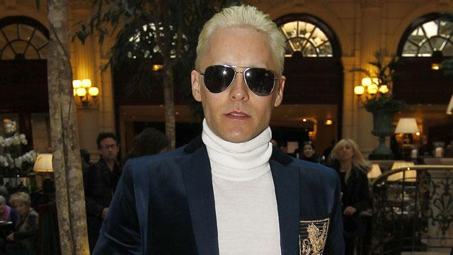 Jared Leto Debuts Platinum Hair at Paris Fashion Week Just Like Kim Kardashian
