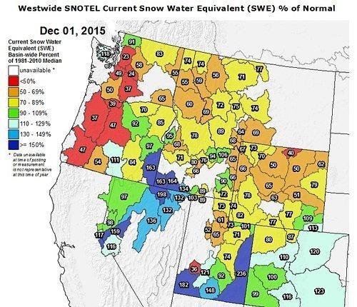 Lake Tahoe's Snowpack is Still Above Average as El Niño Continues to Strengthen