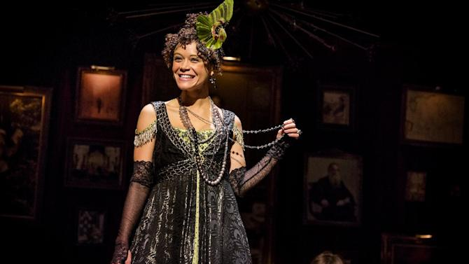 """This undated theater image released by The Hartman Group shows Amber Gray in """"Natasha, Pierre and the Great Comet of 1812,"""" a dinner theater performance that opened Thursday, May 15, 2013 in the meatpacking district of New York. (AP Photo/The Hartman Group, Chad Batka)"""