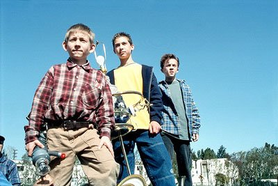 "Malcolm (Frankie Muniz, R), Reese (Justin Berfield, C) and Dewey (Erik Per Sullivan, L) prepare to cause major disaster in the ""Smunday"" episode of Fox's Malcolm In The Middle"