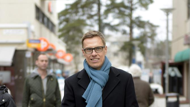 Finnish Prime Minister and leader of the National Coalition Party Alexander Stubb campaigns ahead of the parliamentary elections in Espoo