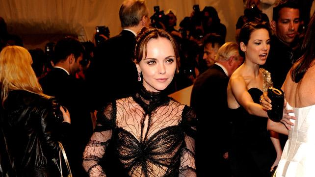 "Christina Ricci attends the ""Alexander McQueen: Savage Beauty"" Costume Institute Gala at The Metropolitan Museum of Art on May 2, 2011 in New York City."
