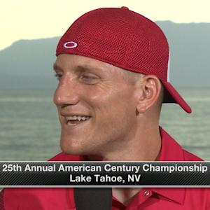 Green Bay Packers linebacker A.J. Hawk explains his fan tackle