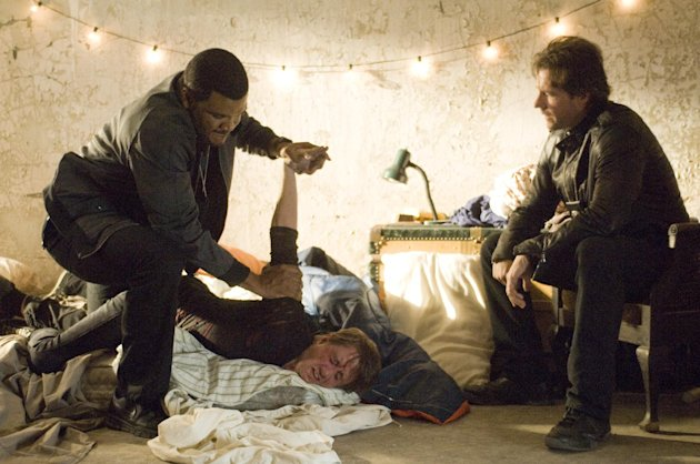 "This film image released by Summit Entertainment shows Edward Burns, right, and Tyler Perry in a scene from ""Alex Cross."" (AP Photo/Summit Entertainment)"