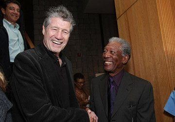 Fred Ward and Morgan Freeman at the Los Angeles premiere of MGM's Feast of Love