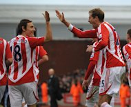 Peter Crouch (right)
