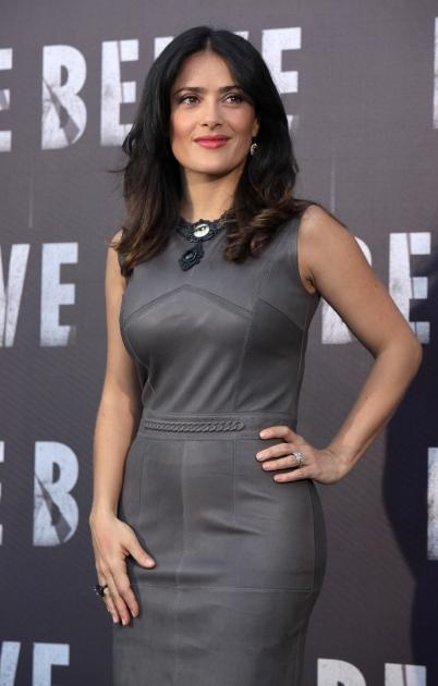 Salma Hayek is seen at the 'Savages' Rome photocall at Hotel de Russie in Rome on September 25, 2012 -- Getty Premium