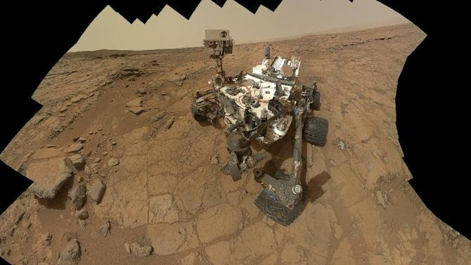 File - An undated file image released by NASA shows  a self-portrait of NASA's Mars rover Curiosity. After back-to-back computer problems, the six-wheel rover has resumed its science experiments. (AP Photo/NASA)