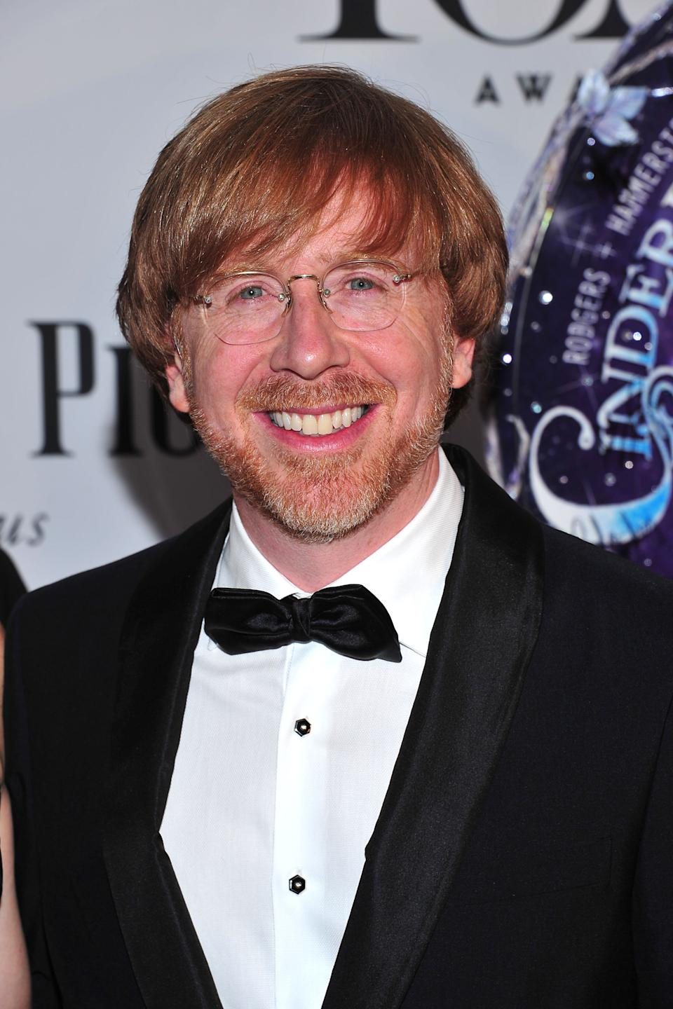 Trey Anastasio arrives on the red carpet at the 67th Annual Tony Awards, on Sunday, June 9, 2013 in New York.  (Photo by Charles Sykes/Invision/AP)