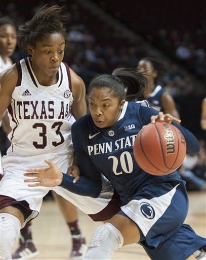 Penn State women edge Texas A&M 63-58