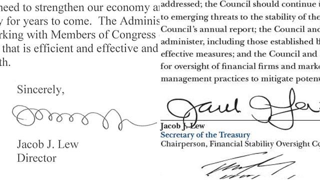 Jack Lew's Loopy Signature Gets a Makeover