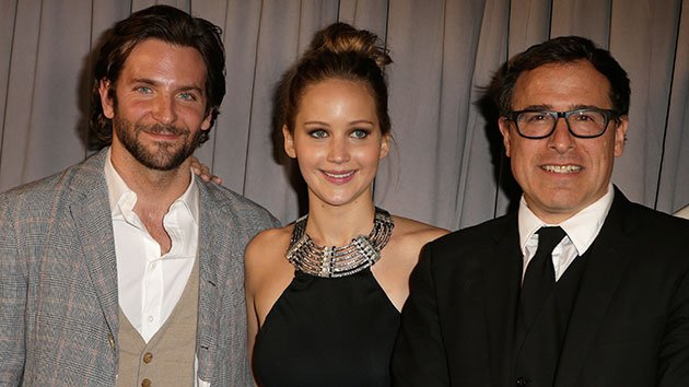 Bradley Cooper, Jennifer Lawrence and director David O. Russell