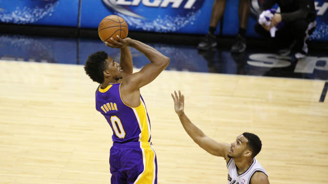 """That right arm — """"strictly for buckets,"""" says Nick Young. (USA TODAY Sports)"""