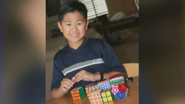 Autistic 10 year old is Rubik's cube master