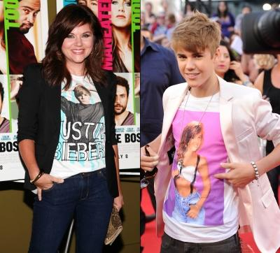 "Tiffani Thiessen at the ""Horrible Bosses""/Justin Bieber at the MuchMusic Awards -- Getty Images"