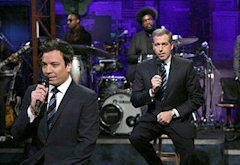 Jimmy Fallon and Brian Williams | Photo Credits: Lloyd Bishop/NBC