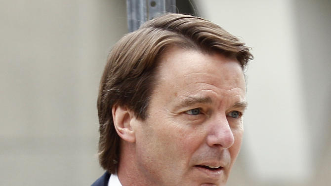Former presidential candidate and Sen. John Edwards arrives at a federal courthouse in Greensboro, N.C., Wednesday, May 9, 2012. Edwards is accused of conspiring to secretly obtain more than $900,000 from two wealthy supporters to hide his extramarital affair with Rielle Hunter as well as her pregnancy. He has pleaded not guilty to six charges related to violations of campaign finance laws. (AP Photo/Gerry Broome)