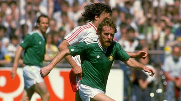 Tony Grealish in action for Republic of Ireland (PA Photos)