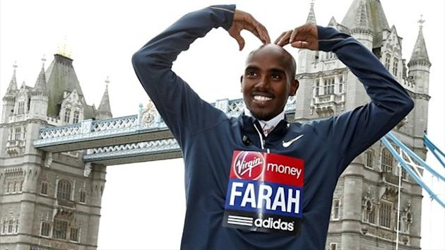 Mo Farah in London (Reuters)