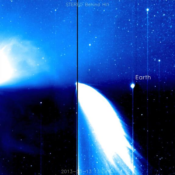 NASA Video Captures Comet, Sun Storm and Earth Together