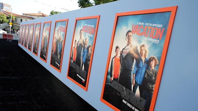 "A general view of atmoshpere seen at the New Line Cinema presents the Premiere of ""Vacation"" held at Regency Village Theatre on Monday, July 27, 2015, in Westwood, Calif. (Photo by Eric Charbonneau/Invision for Warner Bros./AP Images)"