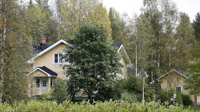 An exterior view shows Finland's Prime Minister Juha Sipila's house in Kempele