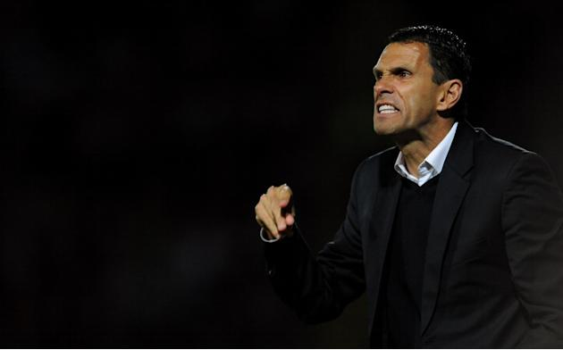 Gus Poyet, pictured, was angry with Lee Mason as his side lost to Leeds