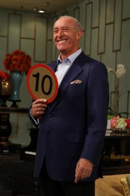 """Len Goodman from """"Dancing with the Stars"""" brings his points paddle to Access Hollywood Live, May 12, 2011 -- Access Hollywood"""