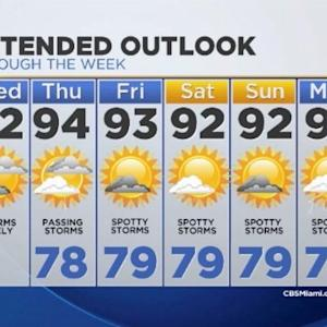 CBSMiami.com Weather 7/30/2014 Wednesday 9AM