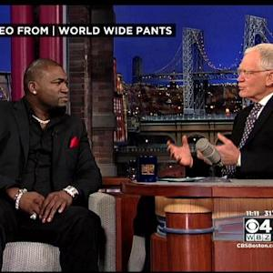 David Ortiz Appears On The Late Show With David Letterman