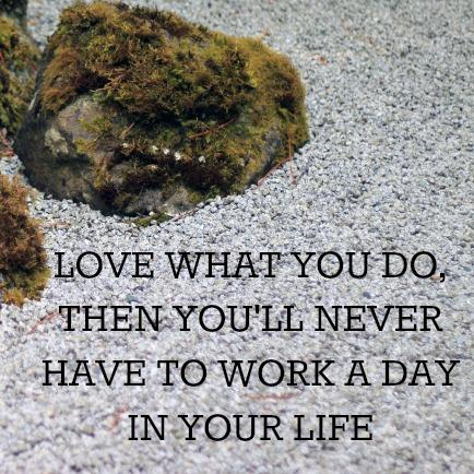 Love What You Do, You'll Never Work a Day in Your Life