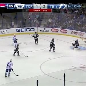 Ben Bishop Save on Dion Phaneuf (07:19/2nd)