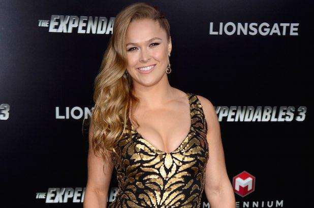 Ronda Rousey Busts Interviewer's Ribs After He Jokes She 'Can't Compete With a Man' (Video)