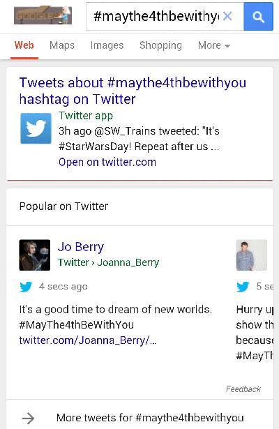 Google tests putting more tweets in your mobile search results