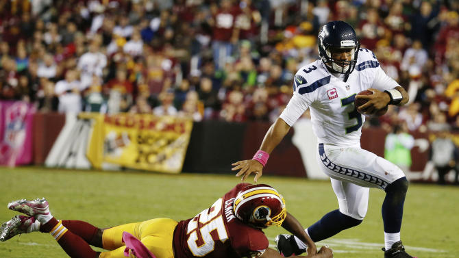 Russell Wilson smart and safe as a running QB