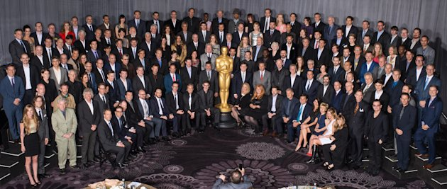 2014 Oscar nominees group photo