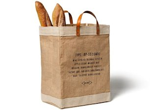 Reusable Burlap Market Bag