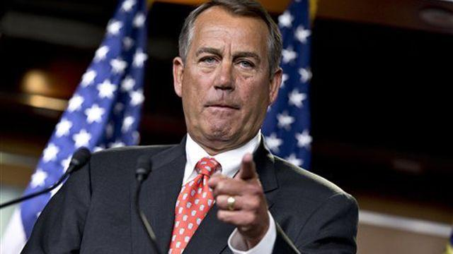 Boehner: 'Fiscal cliff' talks going 'nowhere'