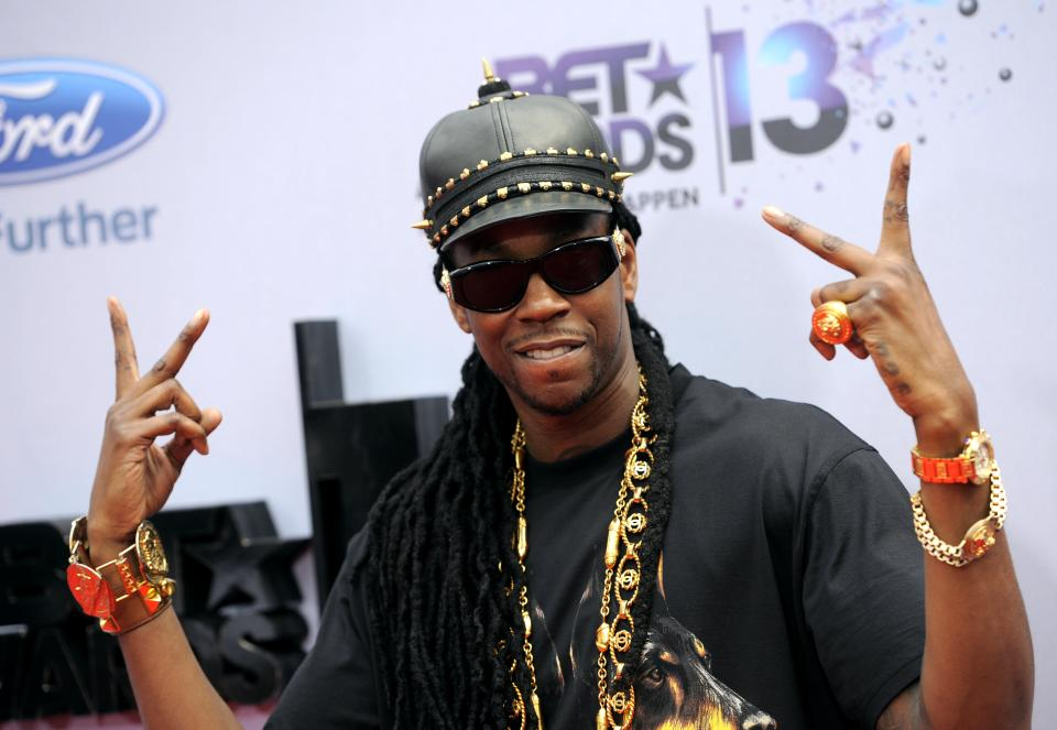 2 Chainz arrives at the BET Awards at the Nokia Theatre on Sunday, June 30, 2013, in Los Angeles. (Photo by Chris Pizzello/Invision/AP)