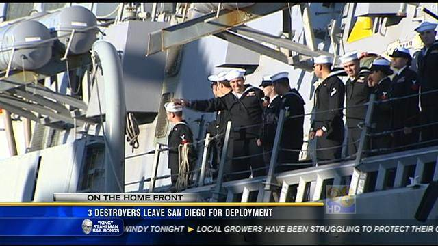 3 destroyers deploy from San Diego