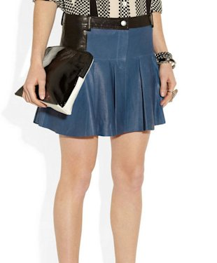 Thakoon Addition pleated leather miniskirt, $690, netaporter.com