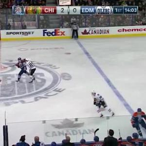 Niklas Hjalmarsson Hit on Mark Fayne (05:58/1st)