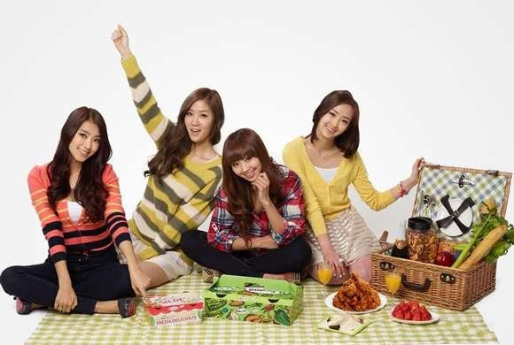 SISTAR Chosen as Models for a Chicken Brand