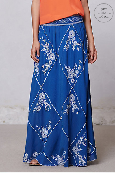 Ping Embroidered Maxi Skirt