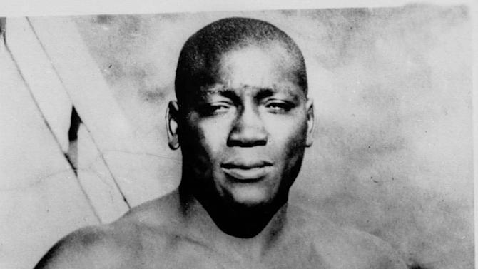 11. Jack Johnson KO12 Stanley Ketchel, Oct. 16, 1909 – Johnson was the heavyweight champion and Ketchel the middleweight champion, but the knockout was one of the most brutal ever. First, the power-punching Ketchel, one of the great punchers in the sport's history, decked Johnson in the 12th. When Johnson got up, he went hard after Ketchel. He landed a right uppercut that not only knocked Ketchel out, but also reportedly left a few of Ketchel's teeth embedded in his glove. (Photo credit: AP)