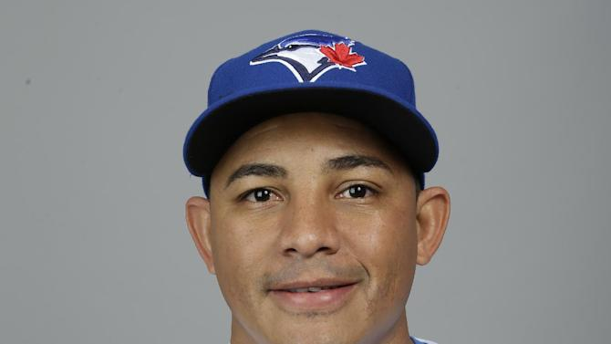 This is a 2015 photo of Ezequiel Carrera of the Toronto Blue Jays baseball team. This image reflects the Toronto Blue Jays active roster as of Saturday, Feb. 28, 2015, when this image was taken at spring training in Dunedin, Fla. (AP Photo/Lynne Sladky)