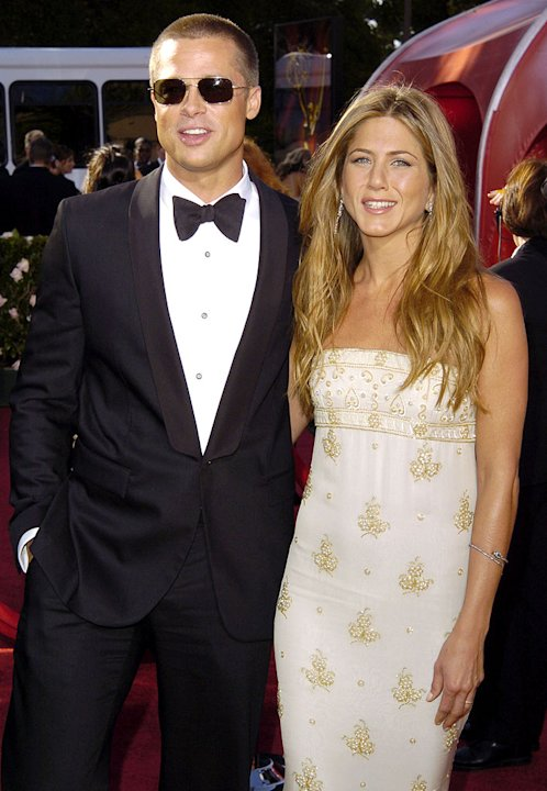 Brad Pitt and Jennifer Aniston at The 56th Annual Primetime Emmy Awards.